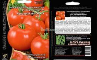 Томат «Красным-красно f1»: характеристика и описание сорта, фото, урожайность, посадка и уход