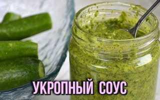 Укропный соус на зиму: рецепт с фото