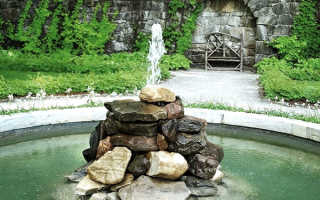 Формы для заливки декоративного фонтана: из пластика или из бетона, как залить фонтан своими руками