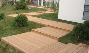Садовые дорожки на даче из террасной доски (ДПК или декинга): как выложить своими руками на участке, фото
