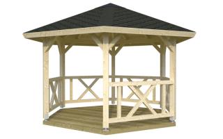Шестигранная беседка своими руками из дерева: как пошагово сделать крышу и построить пол шестиугольной постройки, установка столбов