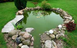 Декоративный пруд на участке загородного дома, его строительство своими руками из подручных материалов, пошагово с фото, как